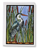 Blue Heron - 162 - Sarah Angst Art Greeting Cards, Giclee Prints, Jewelry, More
