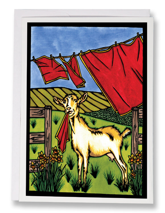 Nanny Goat - 165 - Sarah Angst Art Greeting Cards, Giclee Prints, Jewelry, More