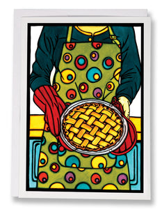 SA170: Apple Pie - Sarah Angst Art Greeting Cards, Giclee Prints, Jewelry, More