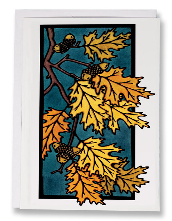 SA173: Oak Leaves - Sarah Angst Art Greeting Cards, Giclee Prints, Jewelry, More