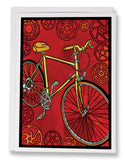 SA174: Bicycle - Sarah Angst Art Greeting Cards, Giclee Prints, Jewelry, More