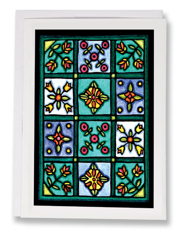 SA180: Quilt - Sarah Angst Art Greeting Cards, Giclee Prints, Jewelry, More