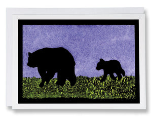 SA185: Mama & Cubs - Sarah Angst Art Greeting Cards, Giclee Prints, Jewelry, More
