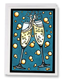 SA191: Champange - Sarah Angst Art Greeting Cards, Giclee Prints, Jewelry, More
