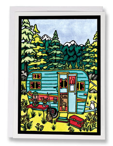 Camping - Sarah Angst Art Greeting Cards, Giclee Prints, Jewelry, More