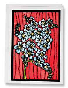SA193: Forget-Me-Not - Sarah Angst Art Greeting Cards, Giclee Prints, Jewelry, More