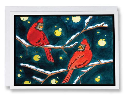 Cardinals - Sarah Angst Art Greeting Cards, Giclee Prints, Jewelry, More