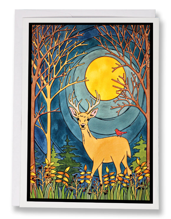 The Deer - 205 - Sarah Angst Art Greeting Cards, Giclee Prints, Jewelry, More