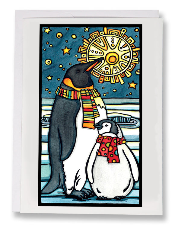 Penguins - 207 - Sarah Angst Art Greeting Cards, Giclee Prints, Jewelry, More