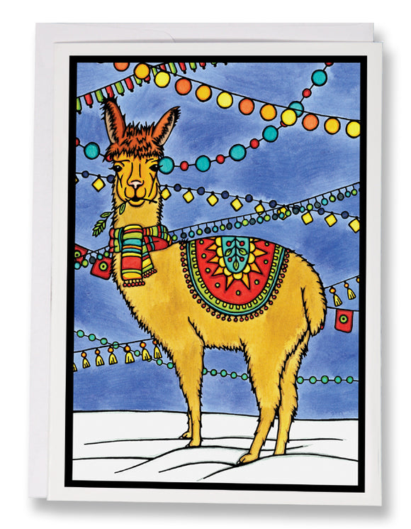 Llama - 211 - Sarah Angst Art Greeting Cards, Giclee Prints, Jewelry, More
