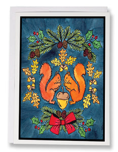 Squirrels - 212 - Sarah Angst Art Greeting Cards, Giclee Prints, Jewelry, More