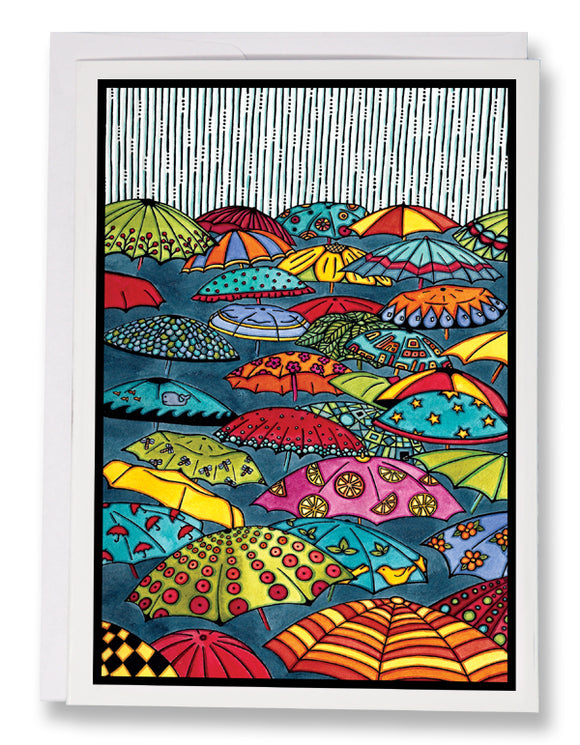 Umbrellas - 213 - Sarah Angst Art Greeting Cards, Giclee Prints, Jewelry, More