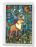 Caribou - 218 - Sarah Angst Art Greeting Cards, Giclee Prints, Jewelry, More