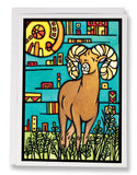 Bighorn Sheep - 221 - Sarah Angst Art Greeting Cards, Giclee Prints, Jewelry, More