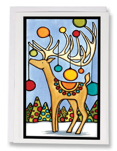 Holiday Deer - Sarah Angst Art Greeting Cards, Giclee Prints, Jewelry, More