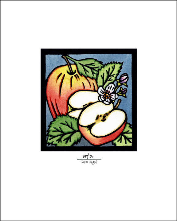 Apples - Simple Giclee Print - Sarah Angst Art Greeting Cards, Giclee Prints, Jewelry, More