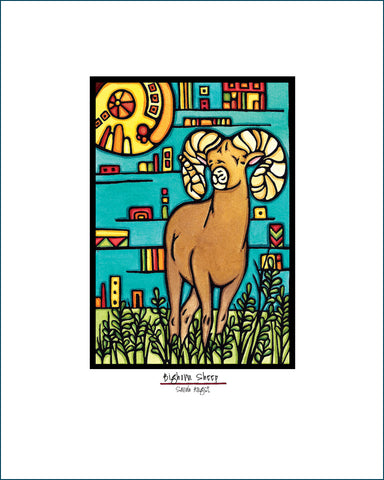 Bighorn Sheep - Simple Giclee Print - Sarah Angst Art Greeting Cards, Giclee Prints, Jewelry, More