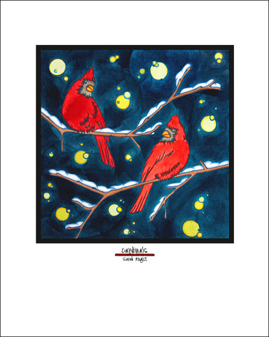 "Cardinals - 8""x10"" Overstock - Sarah Angst Art Greeting Cards, Giclee Prints, Jewelry, More"