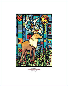 Caribou - Simple Giclee Print - Sarah Angst Art Greeting Cards, Giclee Prints, Jewelry, More