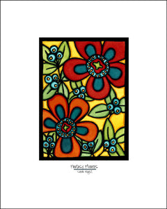 Flower Fantasy - Simple Giclee Print - Sarah Angst Art Greeting Cards, Giclee Prints, Jewelry, More