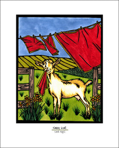 Nanny Goat - Simple Giclee Print