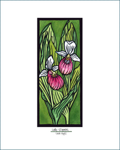 Lady Slippers - Simple Giclee Print - Sarah Angst Art Greeting Cards, Giclee Prints, Jewelry, More