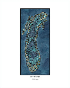 Lake Michigan - Simple Giclee Print - Sarah Angst Art Greeting Cards, Giclee Prints, Jewelry, More
