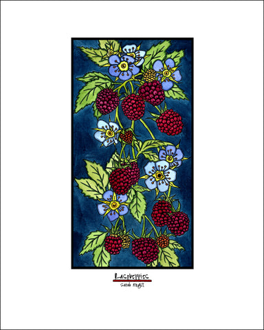 Raspberries - Simple Giclee Print - Sarah Angst Art Greeting Cards, Giclee Prints, Jewelry, More