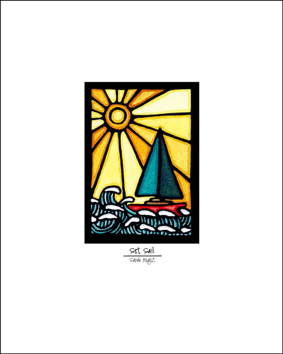 Set Sail - Simple Giclee Print - Sarah Angst Art Greeting Cards, Giclee Prints, Jewelry, More