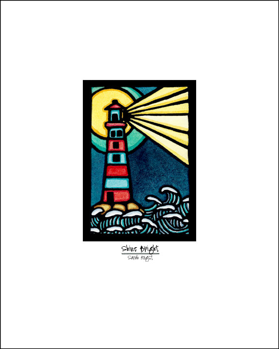 Shine Bright - Simple Giclee Print - Sarah Angst Art Greeting Cards, Giclee Prints, Jewelry, More
