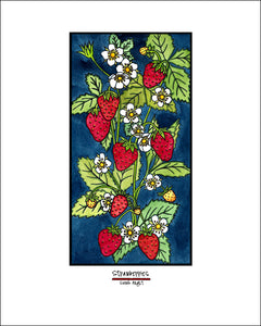 Strawberries - Simple Giclee Print - Sarah Angst Art Greeting Cards, Giclee Prints, Jewelry, More