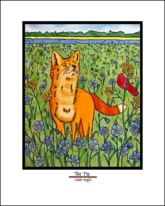 The Fox - Simple Giclee Print - Sarah Angst Art Greeting Cards, Giclee Prints, Jewelry, More