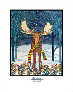The Moose - Simple Giclee Print - Sarah Angst Art Greeting Cards, Giclee Prints, Jewelry, More