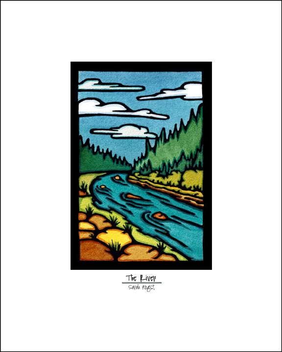 The River - Simple Giclee Print - Sarah Angst Art Greeting Cards, Giclee Prints, Jewelry, More