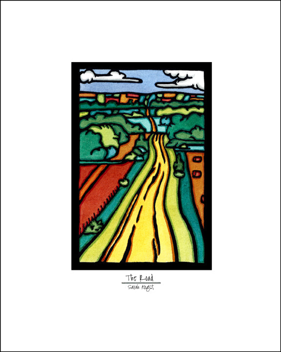 The Road - Simple Giclee Print - Sarah Angst Art Greeting Cards, Giclee Prints, Jewelry, More