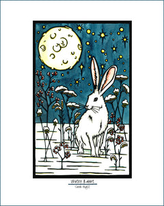 Winter Rabbit - Simple Giclee Print - Sarah Angst Art Greeting Cards, Giclee Prints, Jewelry, More