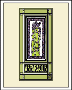 Asparagus - Mission Style Giclee Print - Sarah Angst Art Greeting Cards, Giclee Prints, Jewelry, More