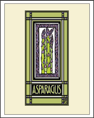 Asparagus - Mission Style Giclee Print