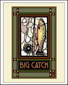 Big Catch - Mission Style Giclee Print
