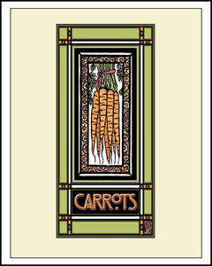 Carrots - Mission Style Giclee Print - Sarah Angst Art Greeting Cards, Giclee Prints, Jewelry, More