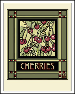 Cherries - Mission Style Giclee Print