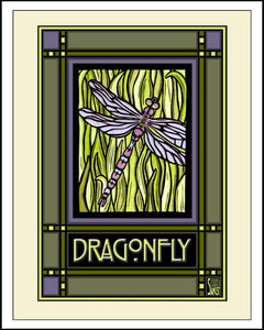 Dragonfly - Mission Style Giclee Print