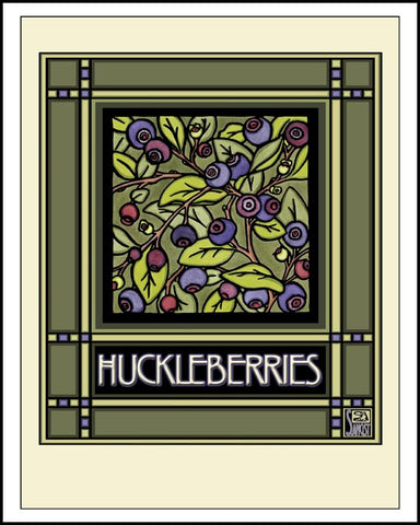 Huckleberries - Mission Style Giclee Print