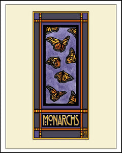 Monarchs - Mission Style Giclee Print - Sarah Angst Art Greeting Cards, Giclee Prints, Jewelry, More