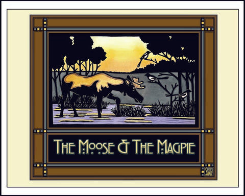 Moose & Magpie - Mission Style Giclee Print