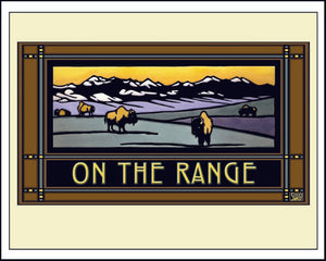 On the Range - Mission Style Giclee Print