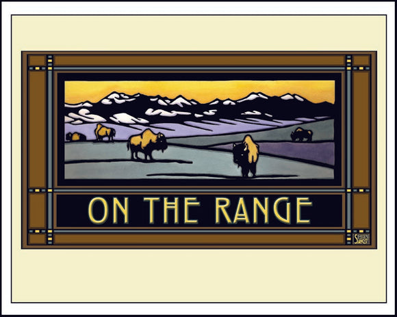 On the Range - Mission Style Giclee Print - Sarah Angst Art Greeting Cards, Giclee Prints, Jewelry, More