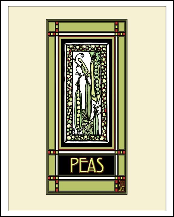 Peas - Mission Style Giclee Print
