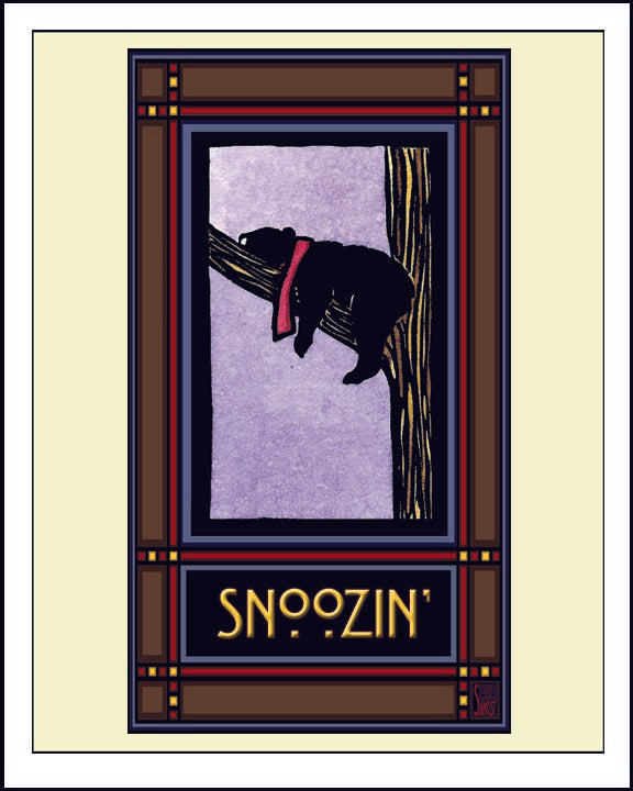 Snoozin - Mission Style Giclee Print - Sarah Angst Art Greeting Cards, Giclee Prints, Jewelry, More