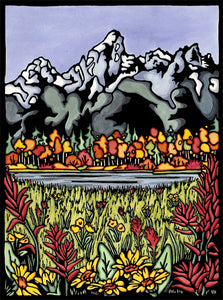 Original - Tetons - Sarah Angst Art Greeting Cards, Giclee Prints, Jewelry, More
